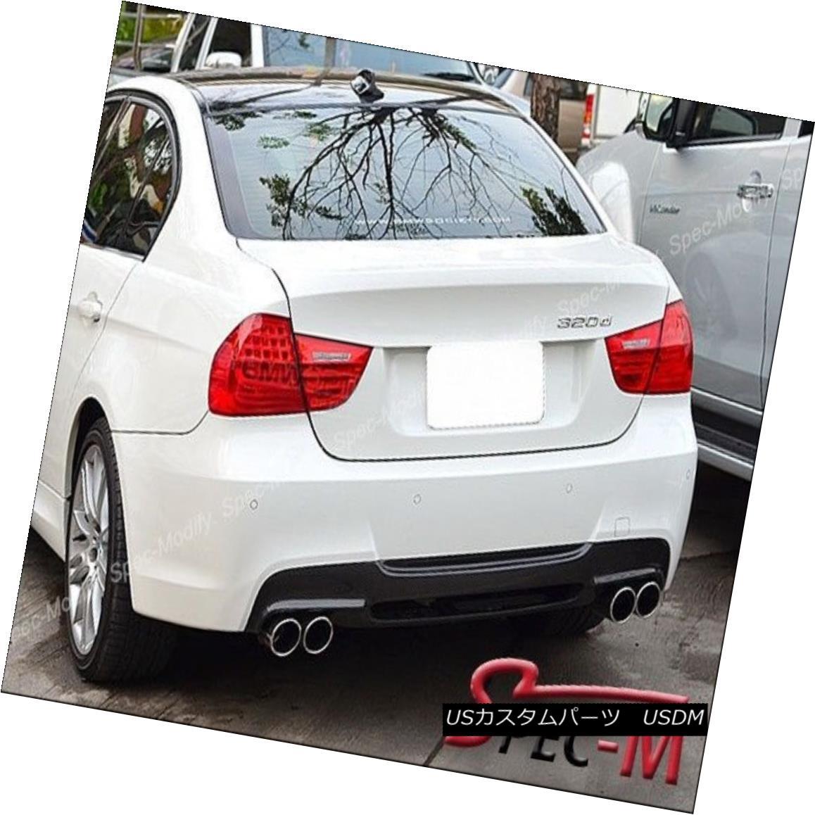 エアロパーツ 06-11 BMW E90 E91 M Tech M Sport 3D Style Carbon Fiber CF Rear Bumper Diffuser 06-11 BMW E90 E91 MテックMスポーツ3DスタイルカーボンファイバーCFリアバンパーディフューザー