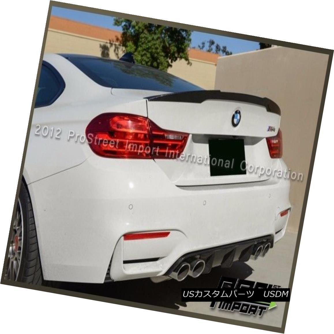 エアロパーツ V Style Carbon Fiber Tail Wing Spoiler Lip For BMW 2015+ F82 M4 Coupe Only Vスタイルカーボンファイバーテールウイングスポイラーリップ(BMW 2015+ F82 M4クーペのみ)