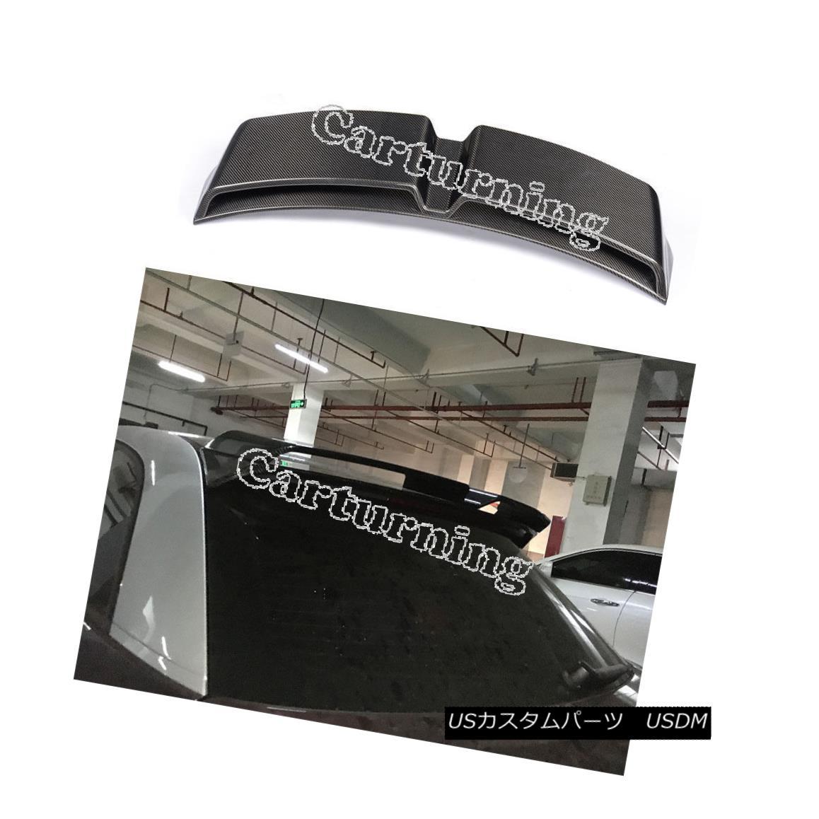 エアロパーツ Carbon Fiber Rear Roof Spoiler Trunk Boot Wing Lip Fit for Audi A1 2Door 10-14 Audi A1用カーボンファイバーリアルーフスポイラートランクブーツウィングリップフィット