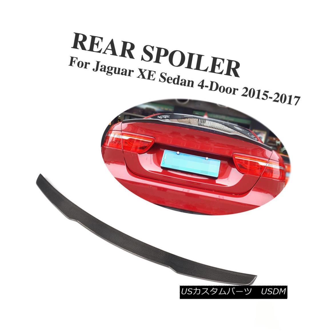 エアロパーツ Carbon Fiber Rear Trunk Spoiler Boot Wings Customized For Jaguar XE Sedan 15-17 ジャガーXEセダン15-17用にカスタマイズされたカーボンファイバーリアトランク・スポイラー・ブーツ・ウイング