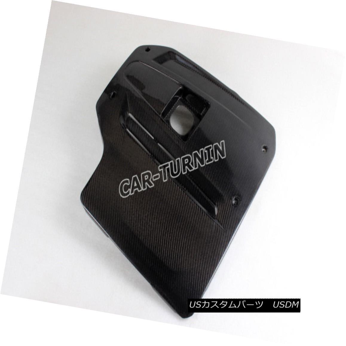 エアロパーツ Engine Value Cover Hood Carbon Fiber Fit for BMW 5 Series Base Sedan F10 11-12 エンジン値カバーフードカーボンファイバーBMW 5シリーズベースセダンF10用11-12