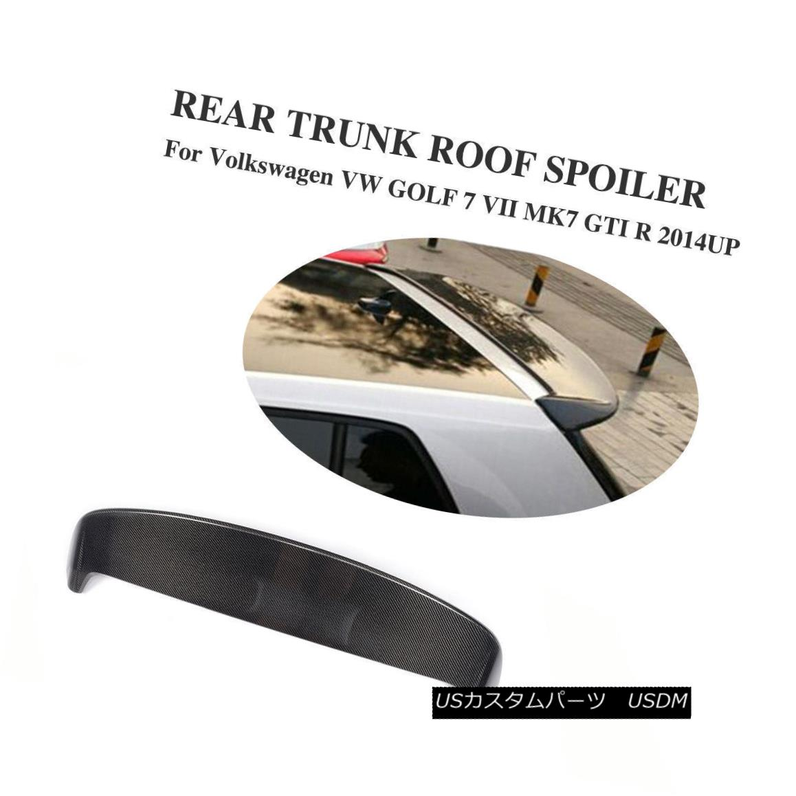 エアロパーツ Carbon Rear Rear Trunk Spoiler Roof Wing for Volkswagen VW GOLF 7 VII MK7 14-17 Volkswagen VW GOLF 7 VII MK7 14-17用カーボンリアリアトランクスポイラールーフウィング