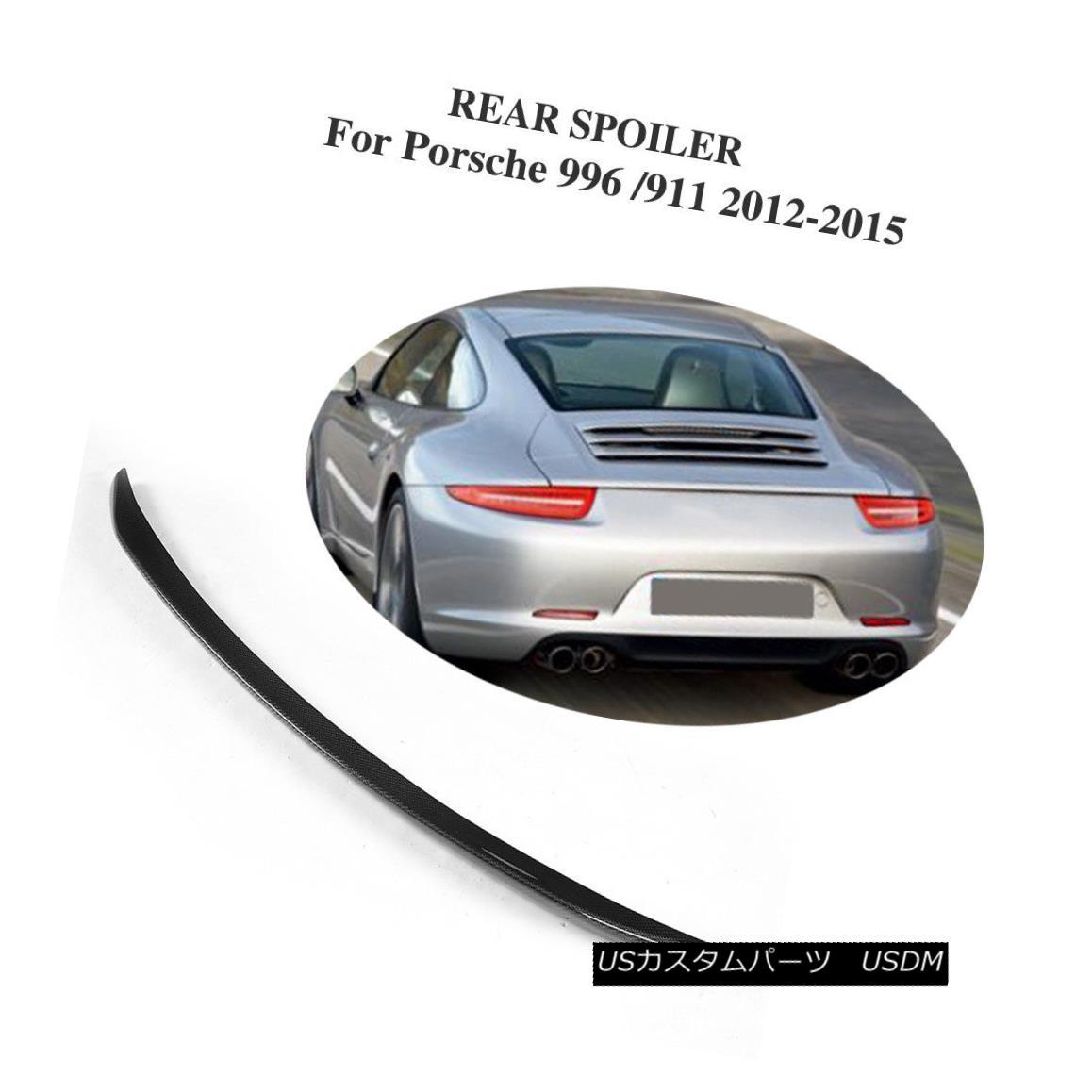 エアロパーツ Carbon Fiber Black Car Rear Wing LipTrunk Spoiler Fit For Porsche 991 2012-2015 炭素繊維黒い車の後部翼のリップトランクのスポイラーフィットポルシェ991 2012-2015年