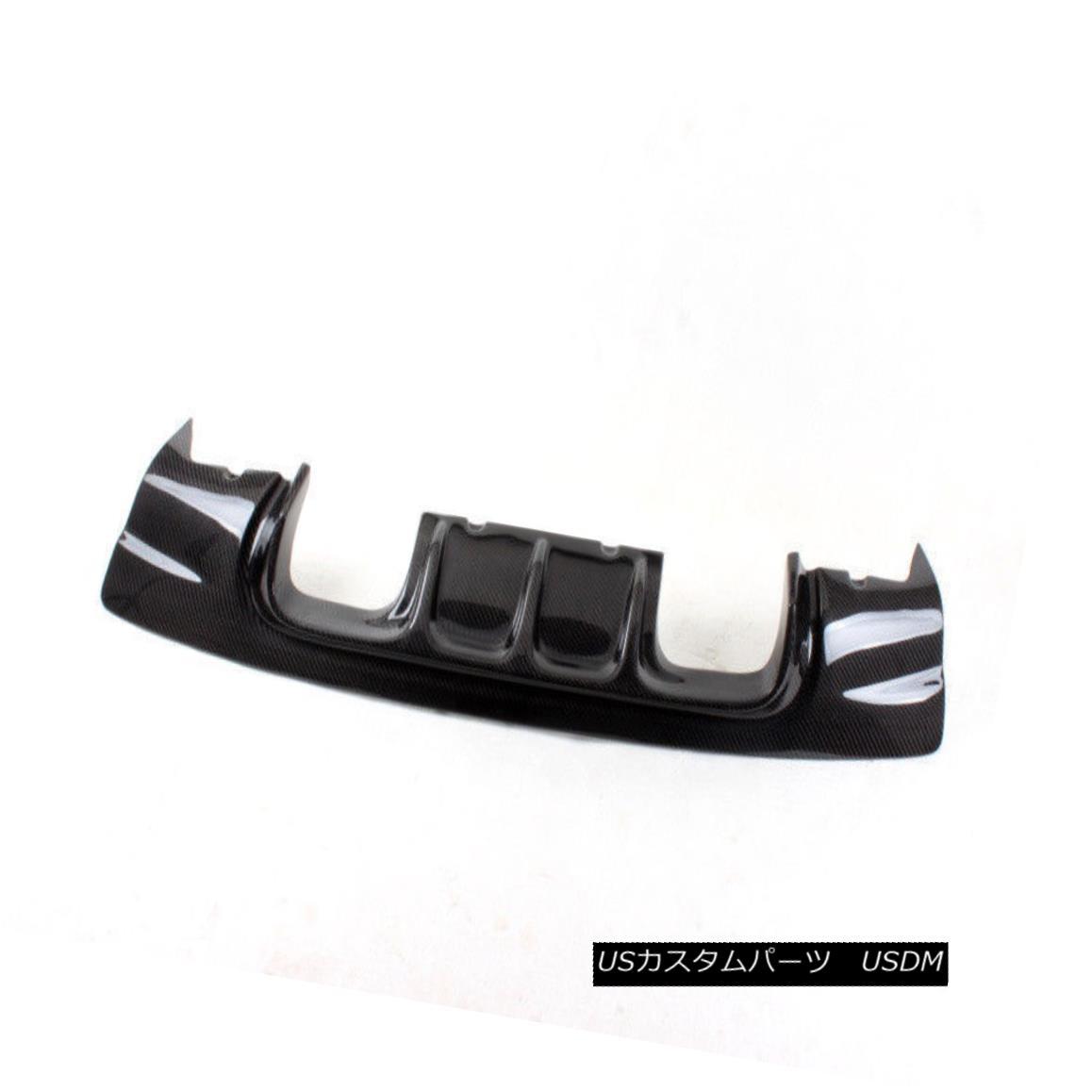エアロパーツ Carbon Fiber Rear Bumper Diffuser Spoiler Lip Chin Fit For BMW E46 M3 V Style カーボンファイバーリアバンパーディフューザースポイラーリップチンフィットBMW E46 M3 Vスタイル
