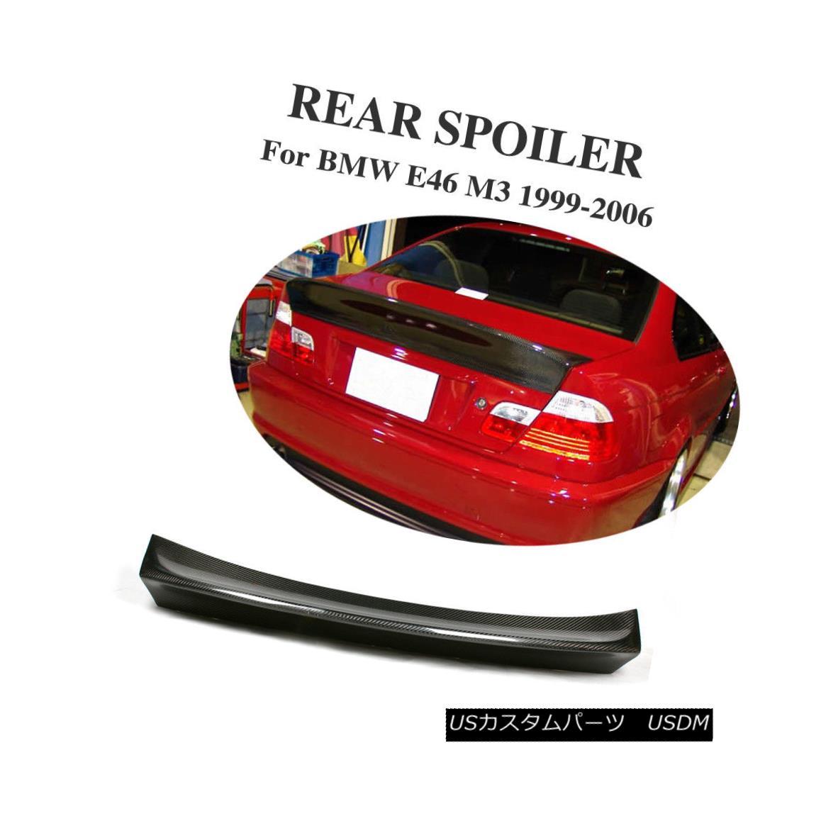 エアロパーツ Carbon Fiber Rear Trunk Spoiler Wings Fit for BMW E46 330i 325i M3 2 Door 99-06 BMW E46 330i 325i M3 2ドア99-06用カーボンファイバーリアトランク・スポイラー・ウイング