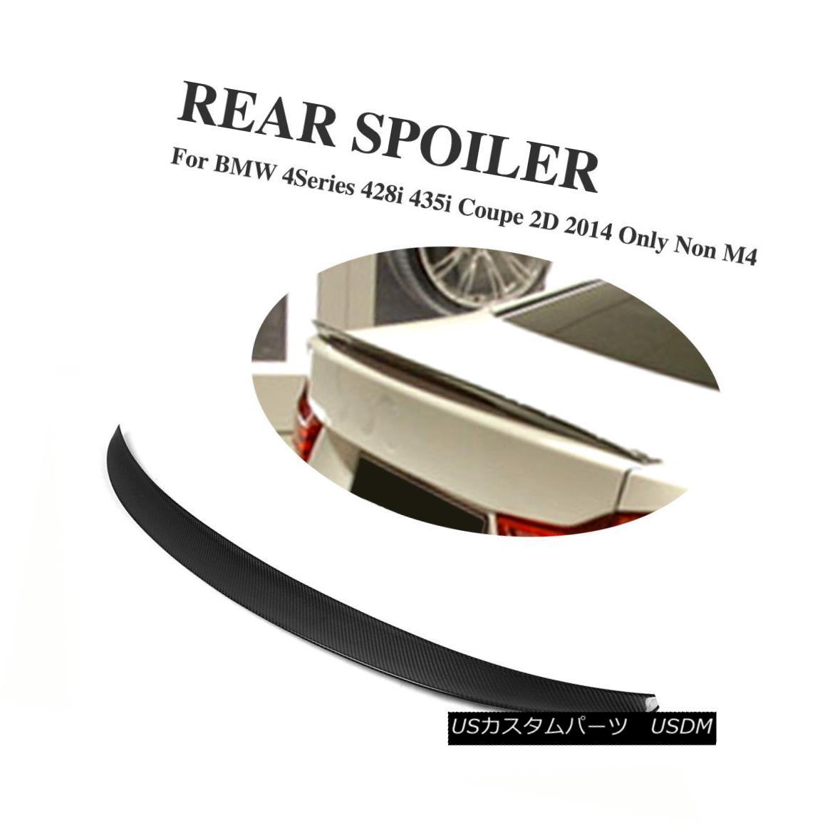 エアロパーツ Rear Boot Trunk Spoiler Wing Lip Carbon Fiber Fit for 2014 BMW F32 Coupe Non-M4 2014年のBMW F32クーペ非M4のためのリアブートトランクスポイラーウィングリップ炭素繊維のフィット