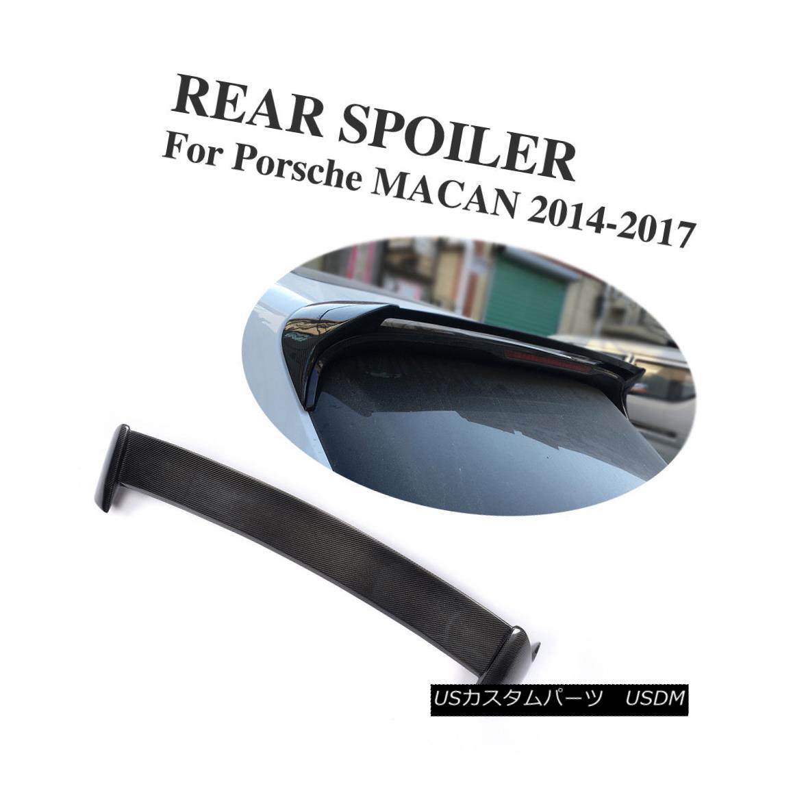 エアロパーツ Carbon Fiber Car Roof Spoiler Wing Fit For Porsche Macan Bumper Guard 2014-2017 ポルシェマカンバンパーガード2014-2017のカーボンファイバーカールーフスポイラーウィングフィット