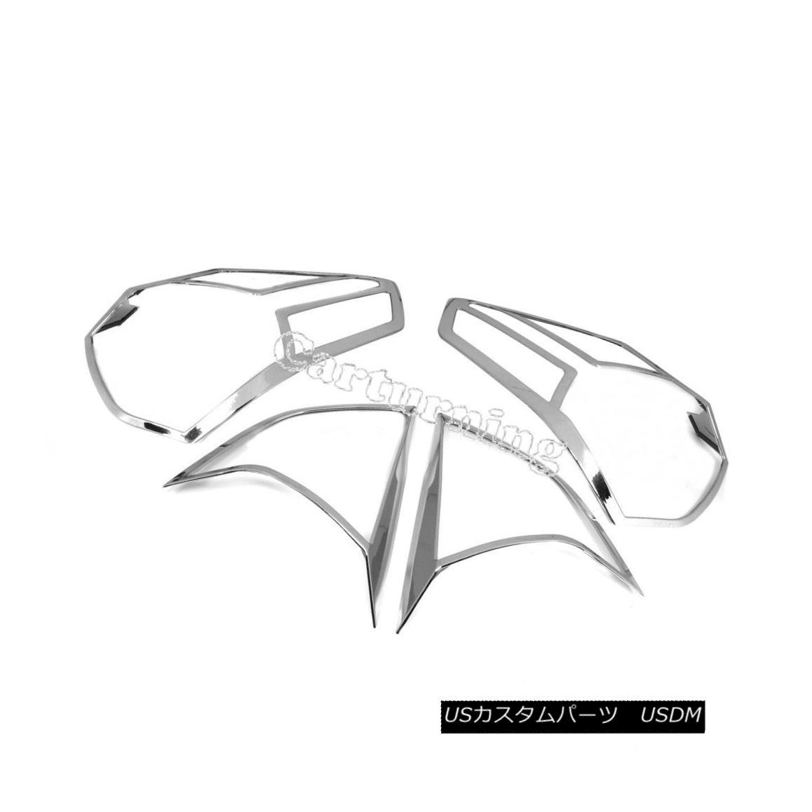エアロパーツ Rear Tail Side Light Cover Trim Chrome Frames Fit for Nissan Rogue X-trail 14-15 リヤテールサイドライトカバートリムクロームフレームは日産ローグXトレイル14-15に適合