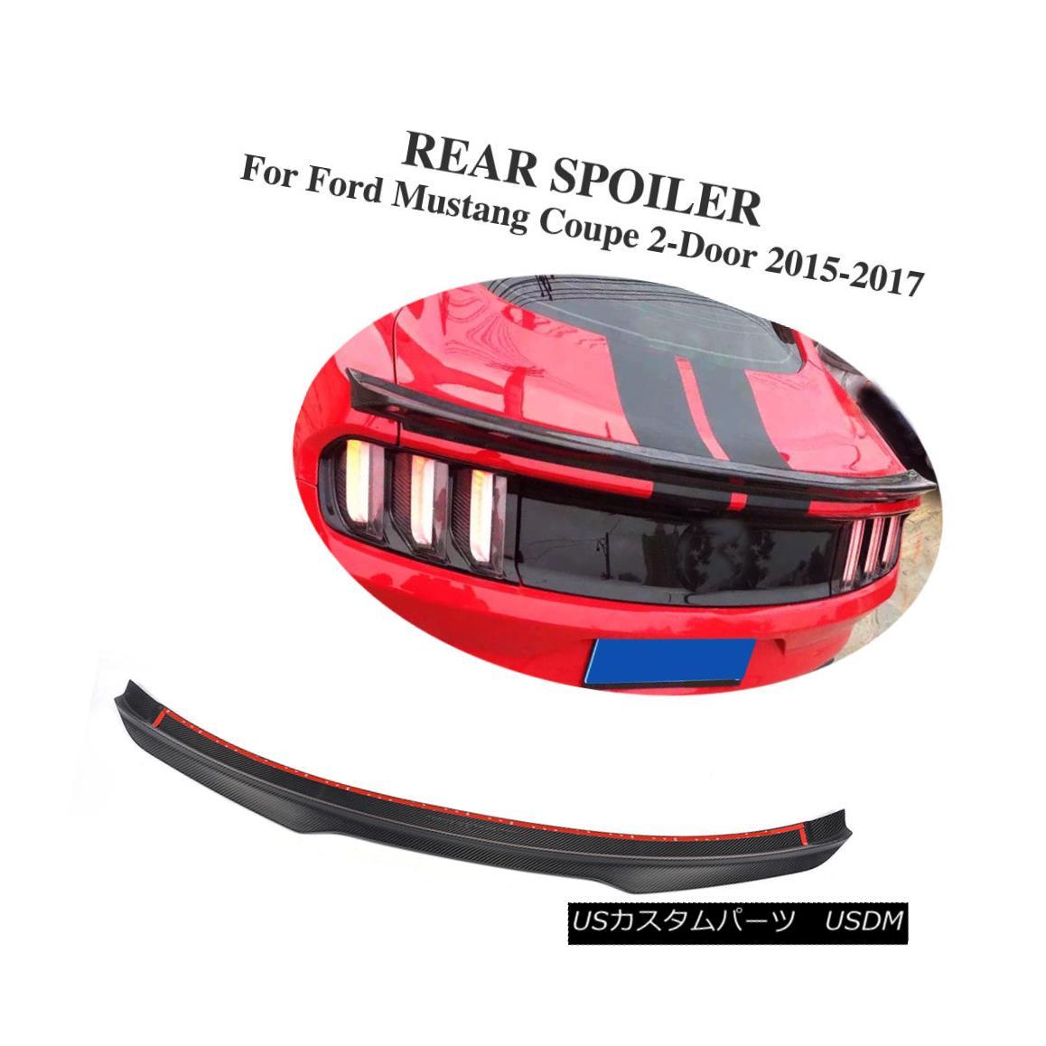 エアロパーツ Carbon Fiber Tail Trunk Spoiler Wing Fit for Ford Mustang GT Shelby GT350 Coupe Ford Mustang GT Shelby GT350クーペ用カーボンファイバーテールトランクスポイラーウイングフィット