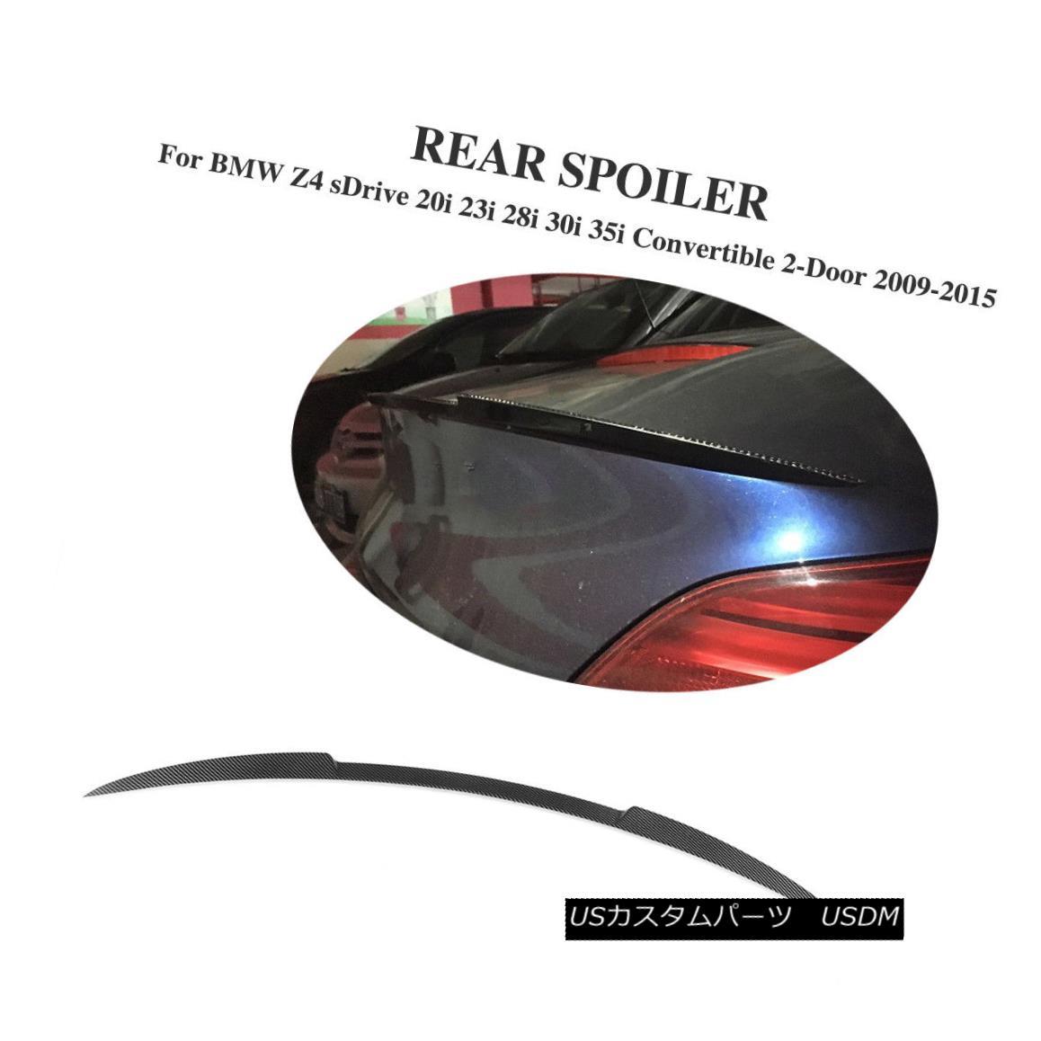 エアロパーツ Carbon Fiber Auto Rear Boot Spoiler Wing Fit for BMW Z4 E89 Z Series 2009-2015 BMW Z4 E89 Zシリーズ2009-2015用カーボンファイバー・オートリア・ブーツ・スポイラー・ウィング・フィット