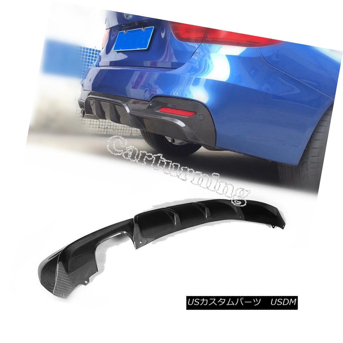エアロパーツ Carbon Fiber Rear Diffuser Lip Spoiler Fit for BMW 3 Series GT M SPORT 2014-2015 カーボンファイバーリアディフューザーリップスポイラーフィットBMW 3シリーズGT M SPORT 2014-2015