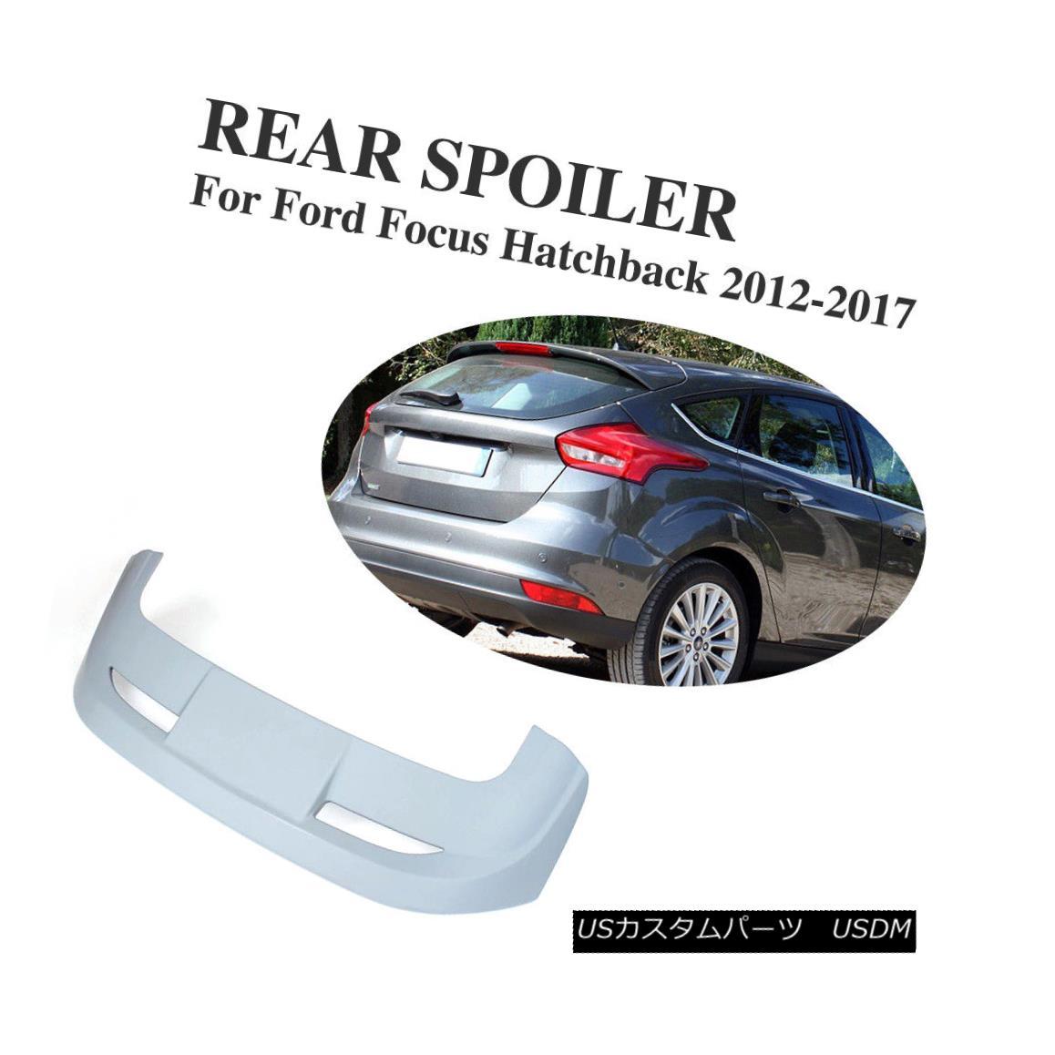 <title>車用品 バイク用品 >> パーツ 外装 エアロパーツ リアスポイラー ABS Rear Roof Spoiler Tail Trunk Wing Fit For NEW ARRIVAL Ford Focus Hatchback 2012-2017 フォードフォーカスハッチバックのためにフィットするABSリアルーフスポイラーテールトランクウィング2012-2017</title>