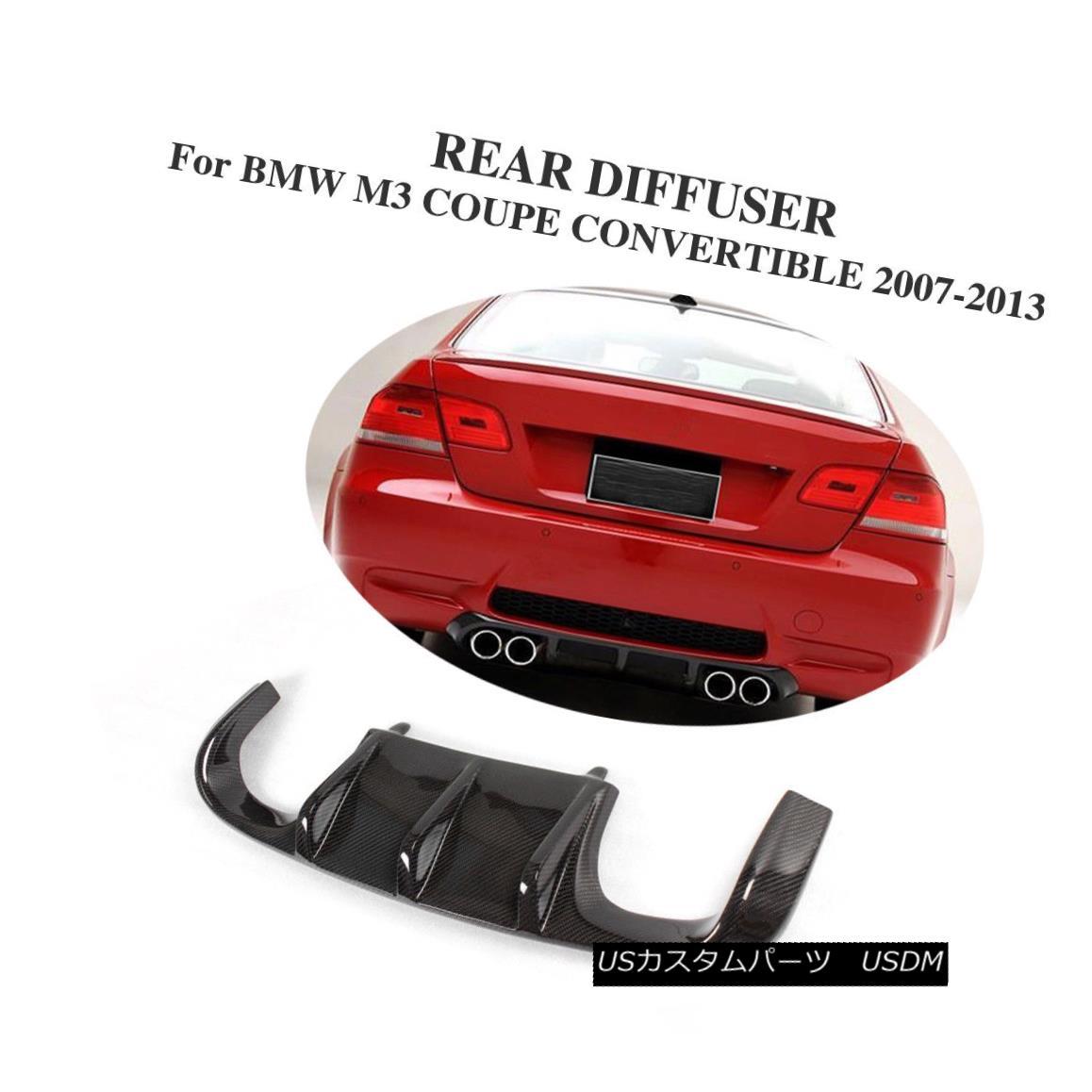 エアロパーツ Carbon Fiber Rear Bumper Diffuser Lower Lip Fit for BMW E92 M3 3 Series 07-13 カーボンファイバーリアバンパーディフューザーBMW E92 M3 3シリーズ用下リップフィット07-13