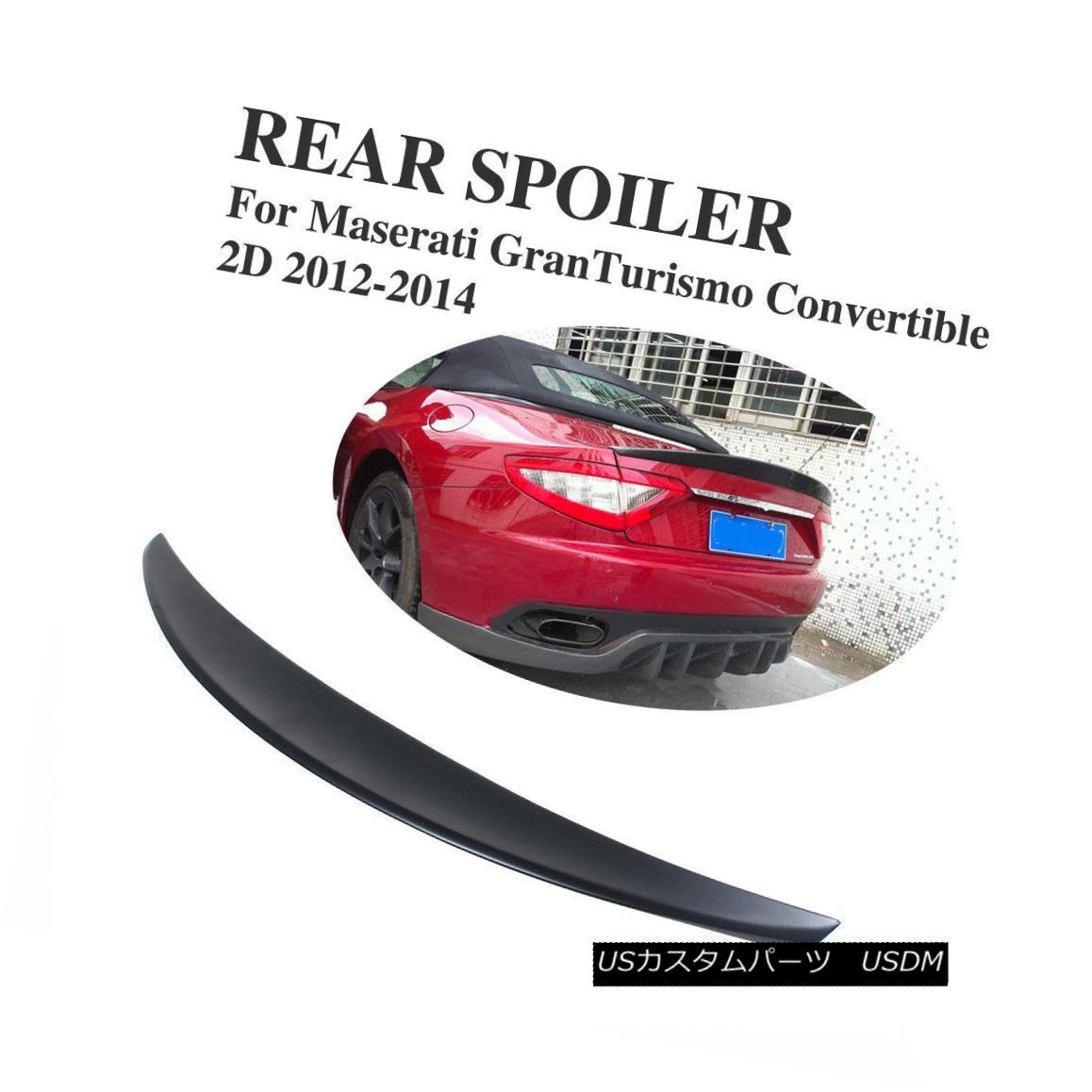 エアロパーツ Rear Bumper Spoiler Lip Wing Fit for Maserati GranTurismo GT Convertible 12-14 リアバンパースポイラーリップウイング、マセラティGranTurismo GT Convertible 12-14