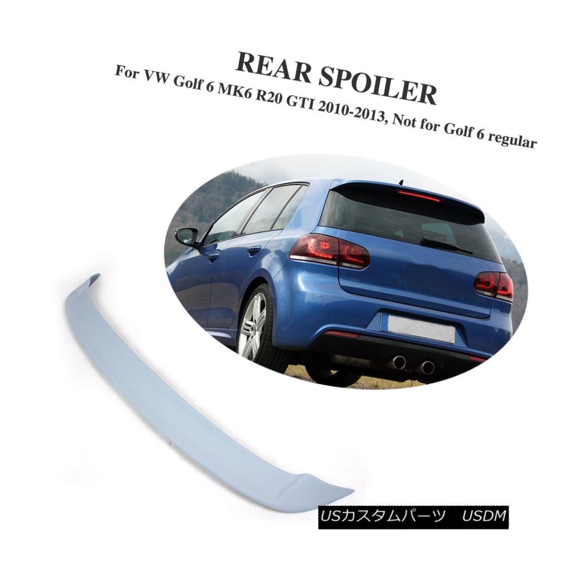 エアロパーツ FRP Auto Rear Roof Spoiler Trunk Wing Fit for VW Golf 6 VI MK6 R20 GTI 2010-2013 VWゴルフ6 VI MK6 R20 GTI 2010-2013のFRP自動リアルーフスポイラートランクウイング
