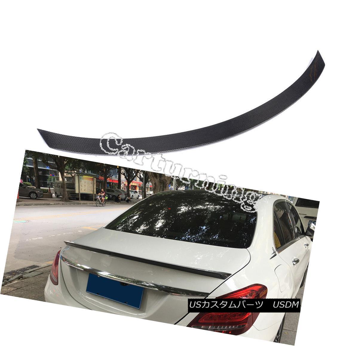エアロパーツ Carbon Fiber Rear Spoiler Wing For Mercedes Benz C-Class W205 C200 C300 C63 AMG メルセデスベンツCクラスW205 C200 C300 C63 AMG用炭素繊維リアスポイラーウィング
