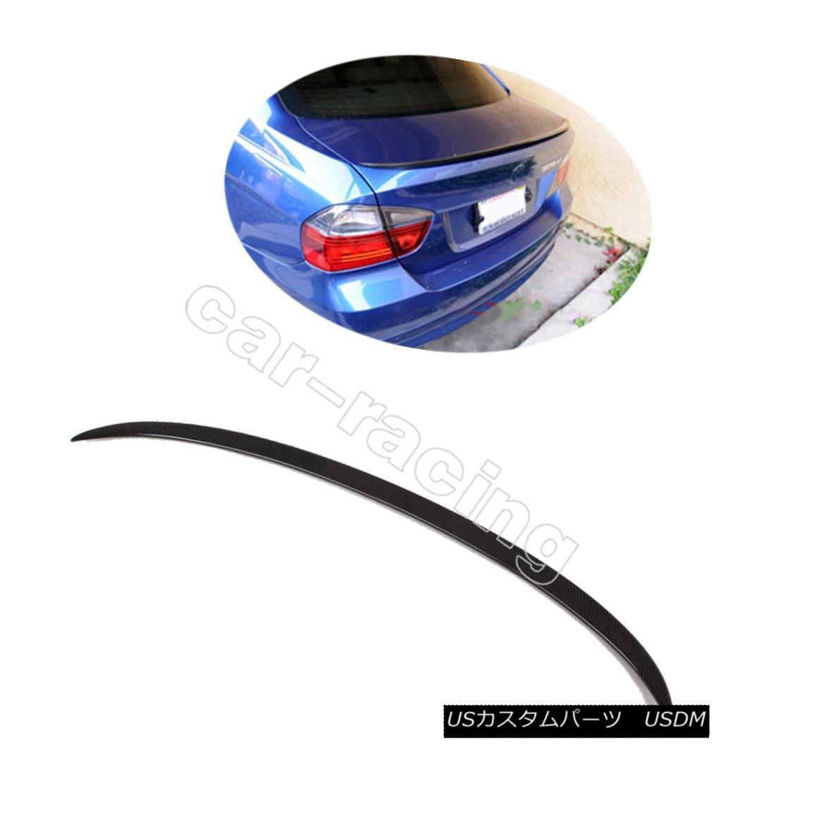 エアロパーツ Carbon Rear Trunk Spoiler Tail Boot Lip Wing Fit For BMW 3Series E90 Sedan 05-11 BMW 3シリーズE90セダン用カーボンリアトランクスポイラーテールブーツリップウイング05-11