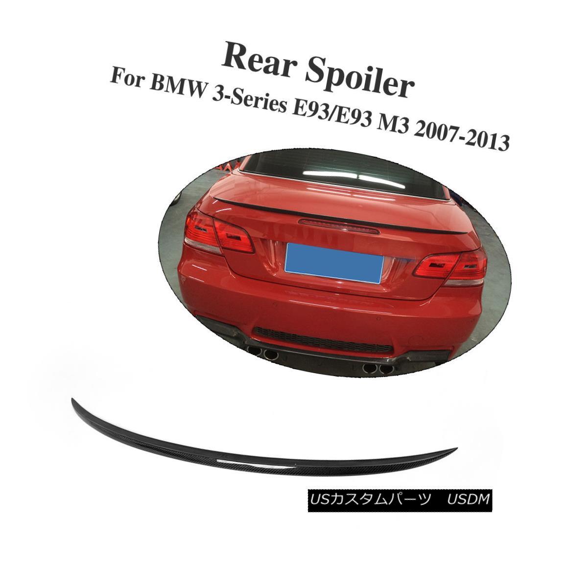 エアロパーツ Carbon Fiber Auto Trunk Spoiler Lip Wing Fit For BMW E93 M3 Convertible 07-13 カーボンファイバーオートマチックトランクスポイラーリップウイングBMW E93 M3 Convertible 07-13