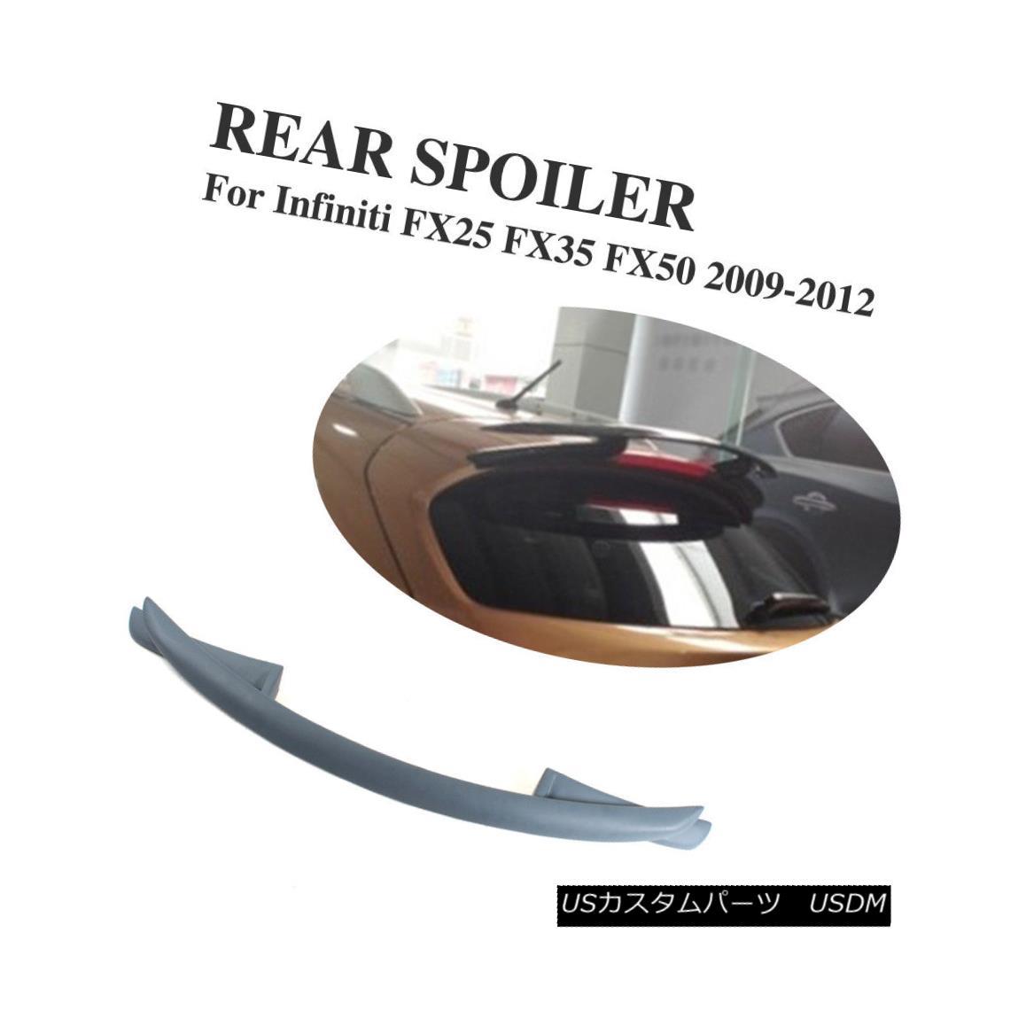 エアロパーツ Rear Roof Spoiler Bumper Wing Lip Fit For Infiniti FX25 FX35 FX50 2009-2012 インフィニティFX25 FX35 FX50 2009-2012用リアルーフスポイラーバンパーウィングリップフィット