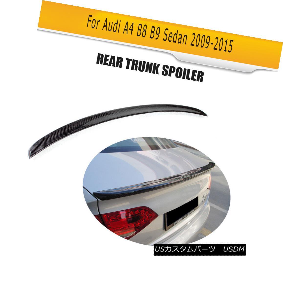 エアロパーツ Carbon Fiber Rear Tuning Boot Spoiler Wing Lip Fit for Audi A4 B8 09-15 Bumper カーボンファイバーリアチューニングブーツ・スポイラーウイング・リップ・フィットfor Audi A4 B8 09-15バンパー