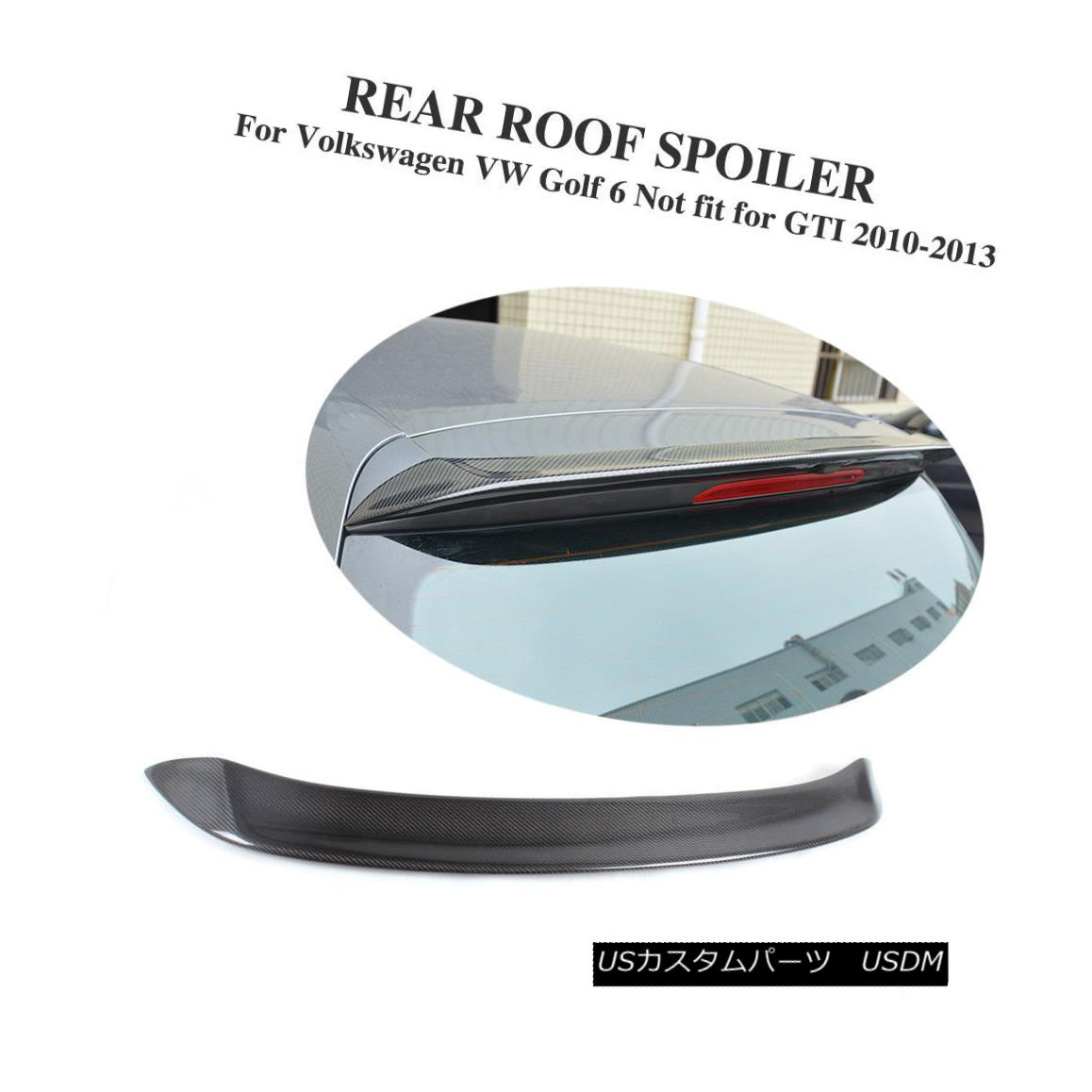 エアロパーツ Carbon Fiber Rear Roof Spoiler Wing Lip Fit for VW Golf 6 VI MK6 Non GTI O Style カーボンファイバーリアルーフスポイラーVWゴルフ用ウィングリップフィット6 VI MK6非GTI Oスタイル