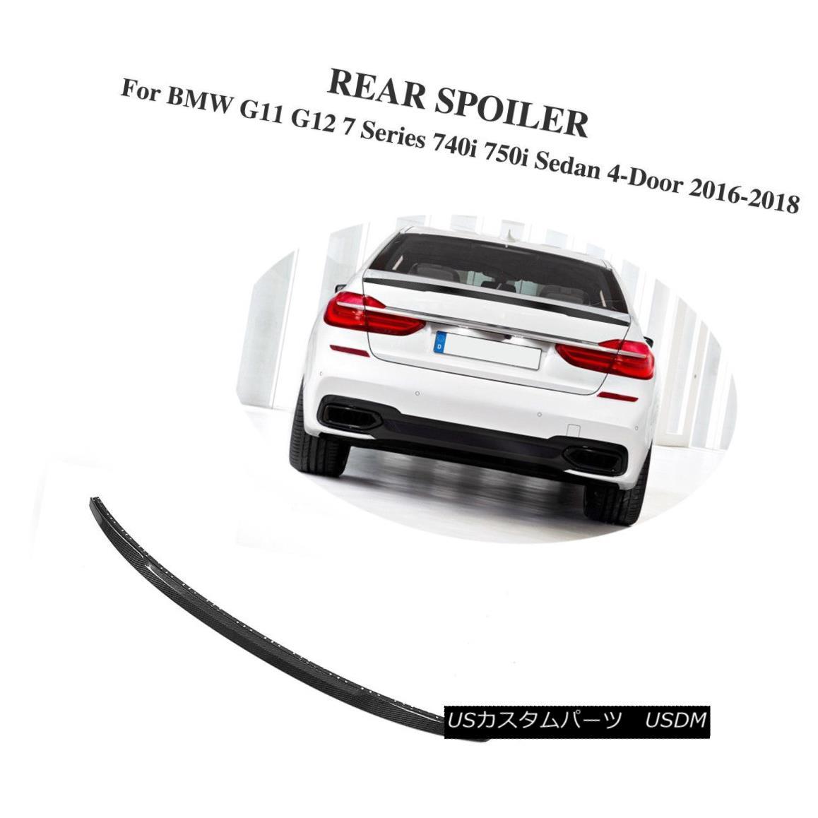 エアロパーツ Rear Trunk Spoiler Carbon Fiber Fit For BMW G12 G11 7 Series Sedan 4-Door 16-18 BMW G12 G11 7シリーズセダン4ドア16-18用リアトランクスポイラーカーボンファイバー