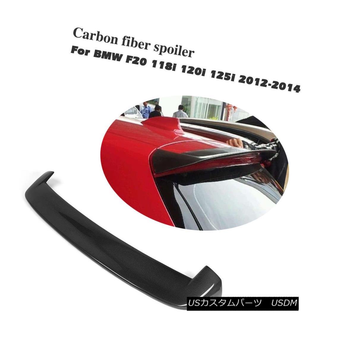 エアロパーツ Carbon Fiber Rear Window Spoiler Boot Roof Wings Fit for BMW 1 Series F20 12-14 BMW 1シリーズF20 12-14用カーボンファイバーリアウインドウ・スポイラー・ブーツ・ルーフ・ウイング