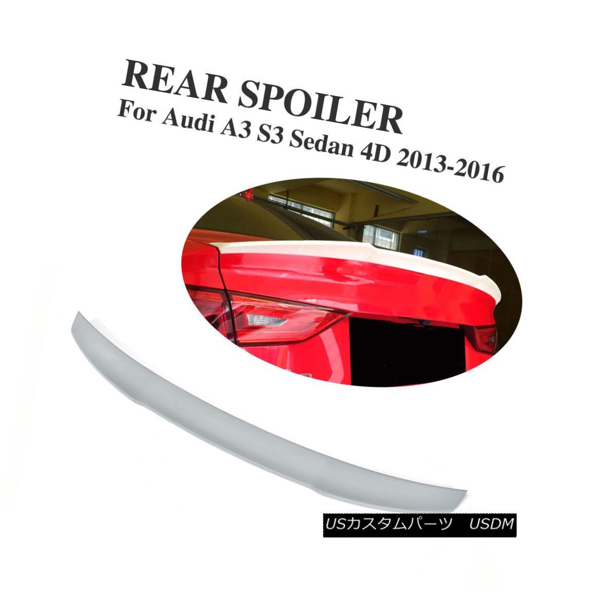 エアロパーツ FRP Rear Trunk Spoiler Wing Lips Fit for Audi A3 S3 4D 2013-2016 Unpainted FRP FRPリアトランク・スポイラーウイング・リップ・フィット・アウディA3 S3 4D 2013-2016未塗装FRP