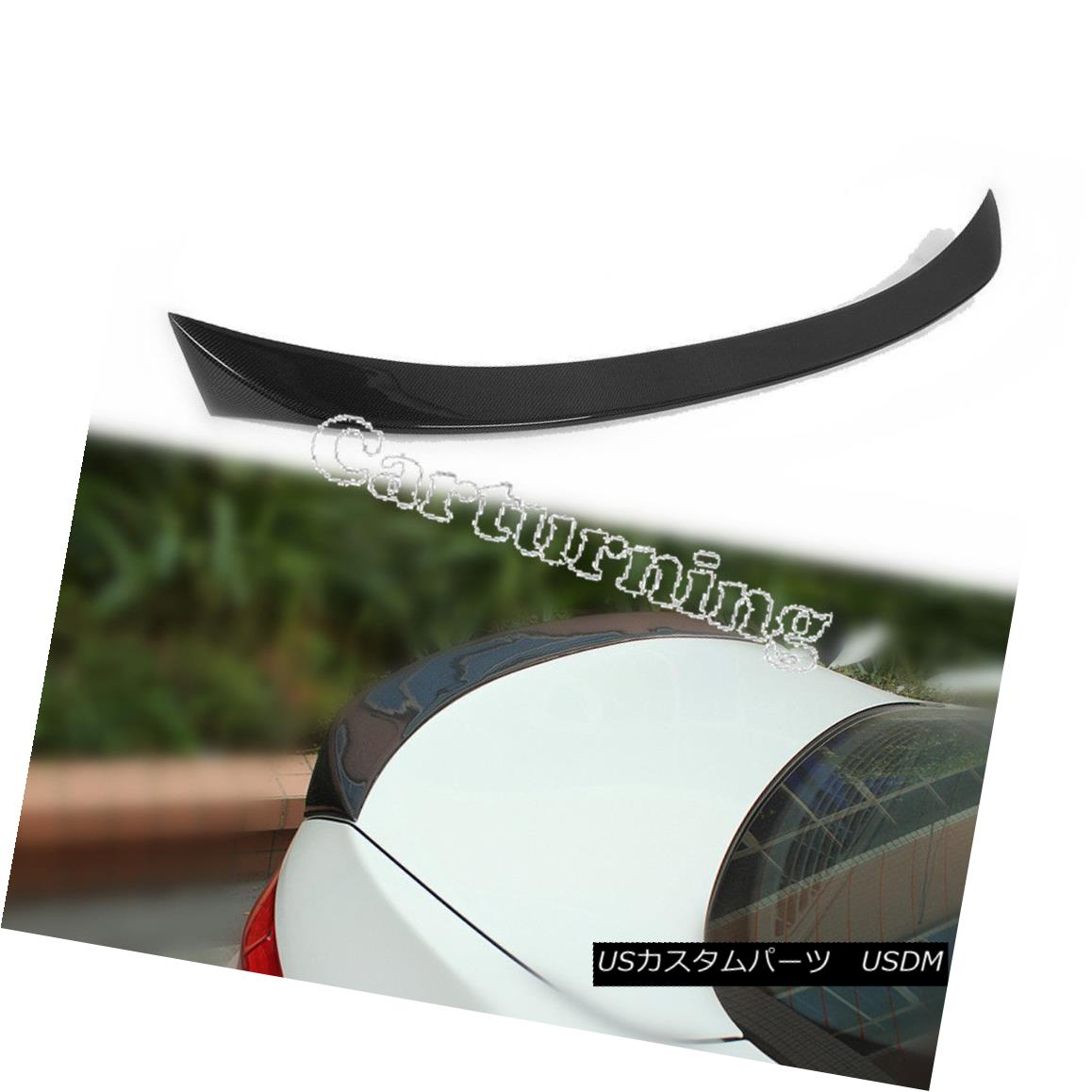 エアロパーツ Auto Carbon Fiber Rear Trunk Spoiler Lip Wing Fit for BMW F10 550i M5 2010-2014 BMW F10 550i M5 2010-2014用オートカーボンファイバーリアトランクスポイラーリップウイング