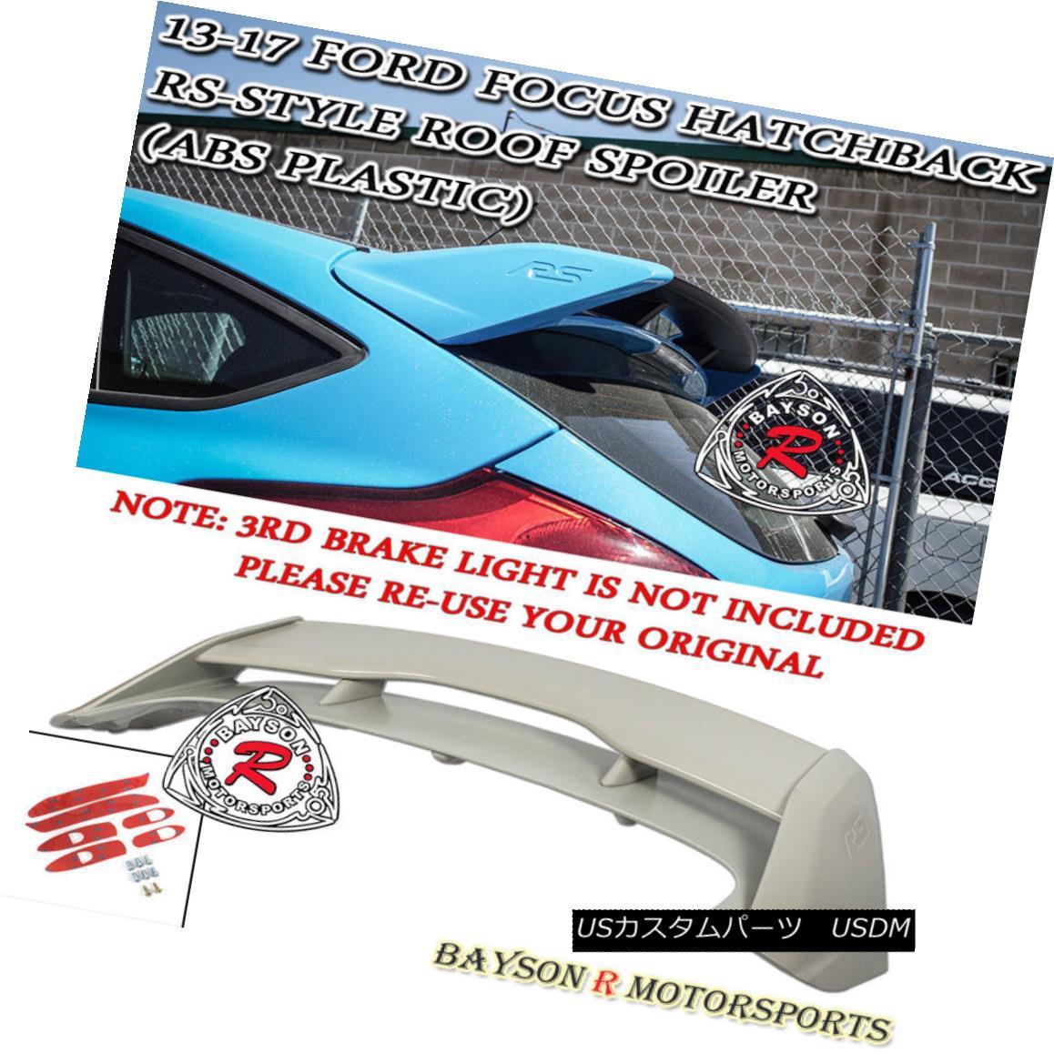 エアロパーツ RS-Style Rear Roof Spoiler Wing (ABS) Fits 12-18 Ford Focus Hatchback RS-スタイルリア・ルーフ・スポイラー・ウィング(ABS)12-18 Ford Focus Hatchbackに適合