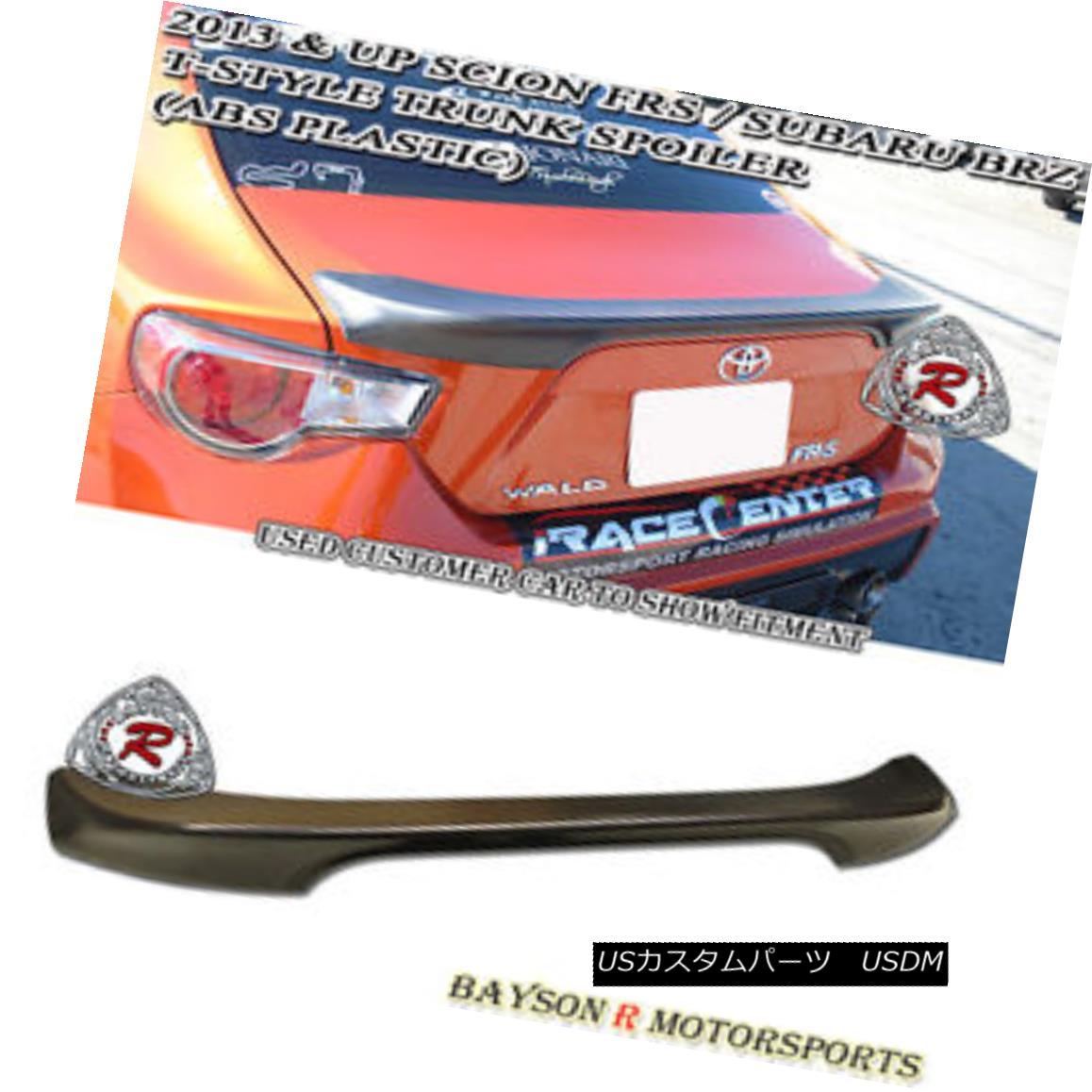 エアロパーツ T-Style Trunk Spoiler Wing (ABS Plastic) Fits 12-18 BRZ FR-S T-スタイルトランクスポイラーウイング(ABSプラスチック)12-18 BRZ FR-Sに適合