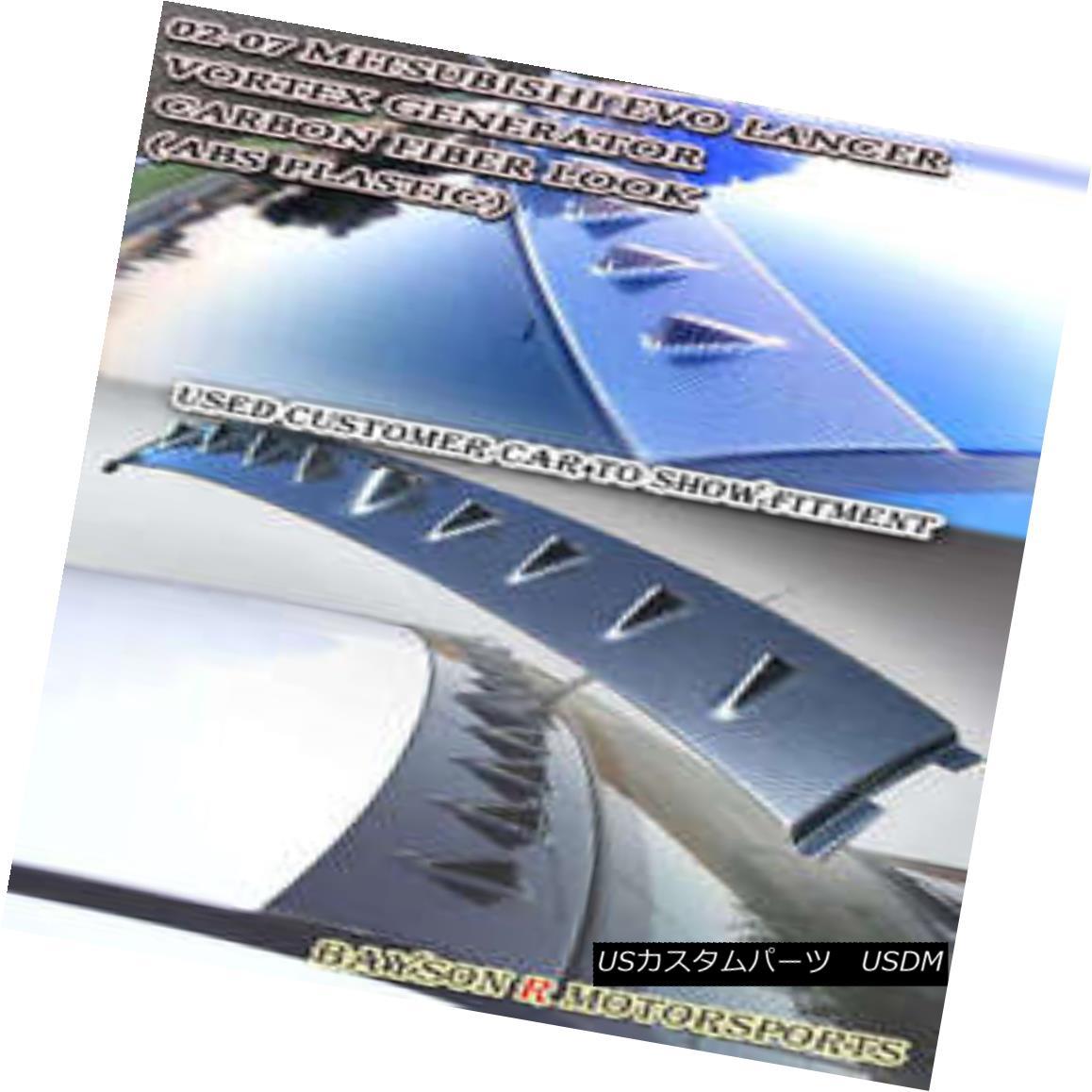 エアロパーツ Vor-Style VG Roof Spoiler (Carbon Look) Fits 01-07 Mitsubishi EVO 7 8 9 Vor-Style VGルーフスポイラー(カーボンルック)フィット01-07三菱EVO 7 8 9