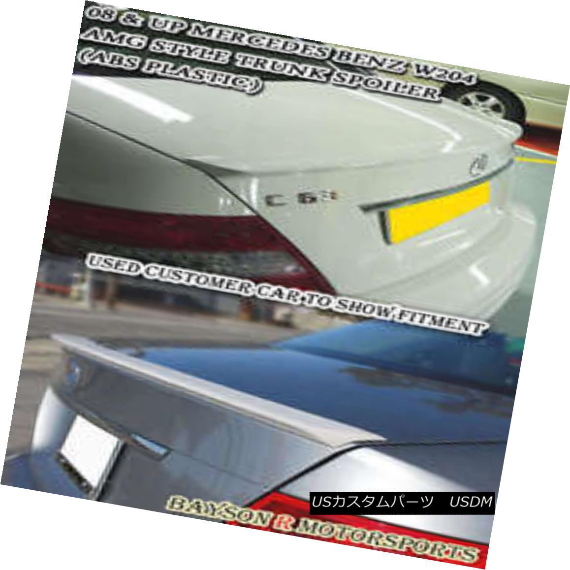 エアロパーツ A-Style Rear Trunk Spoiler Wing (ABS) Fits 08-14 Mercedes C-Class W204 A型リアトランク・スポイラー・ウィング(ABS)が08-14メルセデスCクラスW204に適合