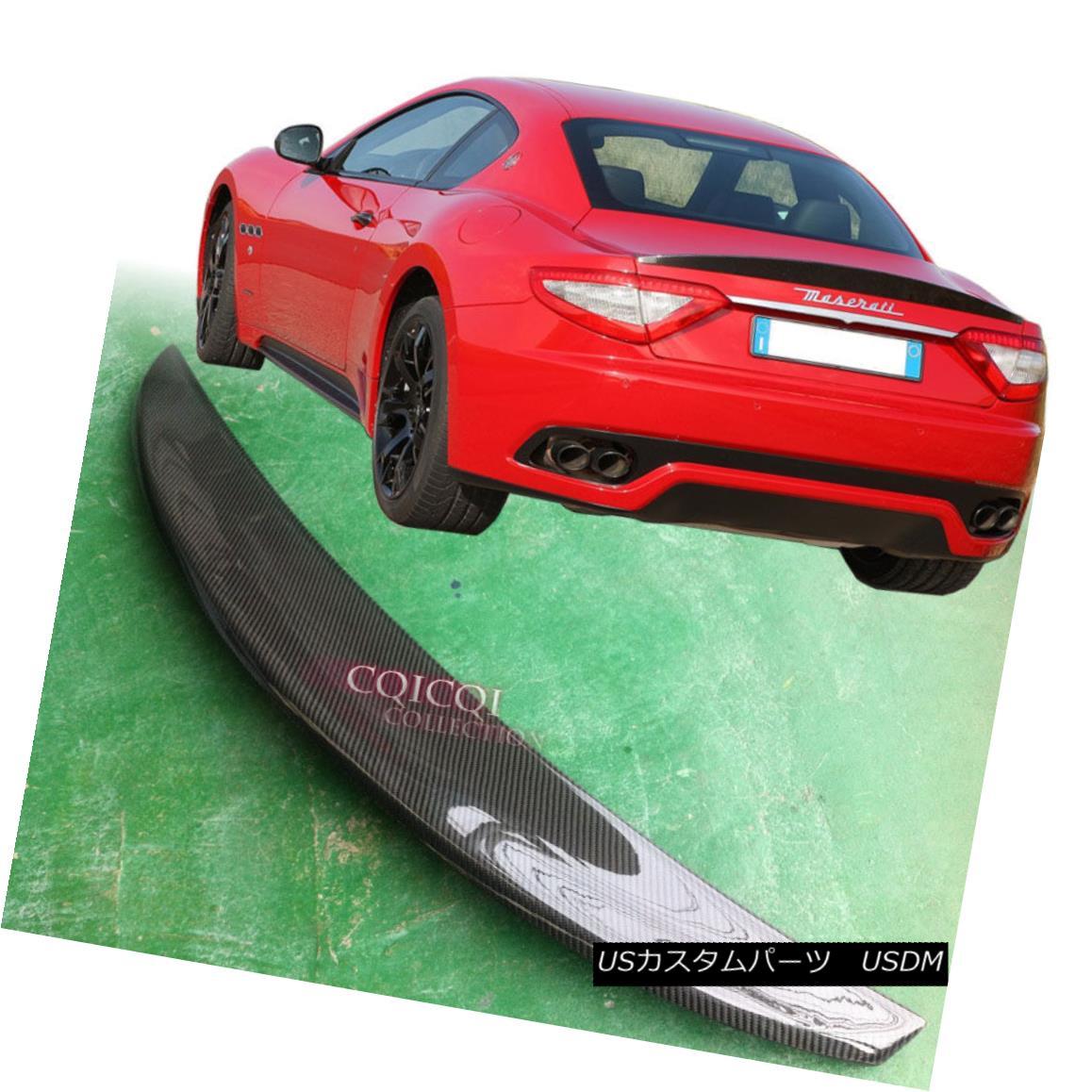 エアロパーツ Carbon Fiber 2008-2014 Maserati Gran Turismo S coupe 2-Door trunk spoiler ◎ 炭素繊維2008-2014 Maserati Granturismo Sクーペ2ドアトランク・スポイラー?