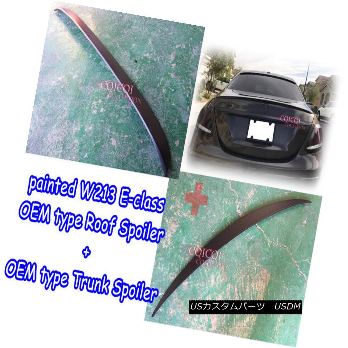 エアロパーツ Painted M-BENZ 17~ W213 E class Sedan OEM type roof + trunk spoiler all color ◎ ペイントされたM-BENZ 17?W213 EクラスセダンOEMタイプの屋根+トランク・スポイラー全色?