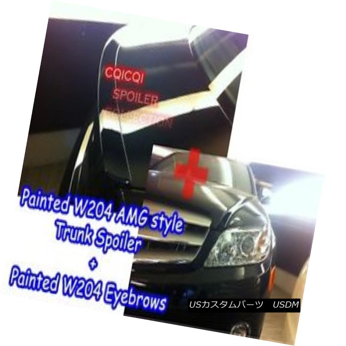 エアロパーツ Painted Combo M-BENZ 08~10 W204 C sedan AMG type trunk spoiler+eyelid color-650◎ ペイントコンボM-BENZ 08?10 W204 CセダンAMGタイプトランクスポイラー+まぶたカラー - 650?