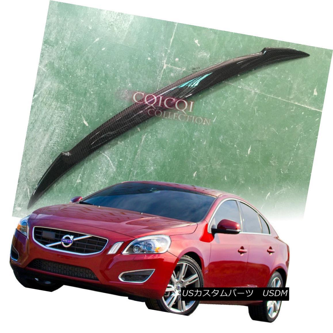 エアロパーツ Carbon Fiber Volvo 11~17 S60 sedan T3 T4 T5 T6 D3 D4 D5 V type trunk spoiler ◎ 炭素繊維ボルボ11?17 S60セダンT3 T4 T5 T6 D3 D4 D5 V型トランク・スポイラー?
