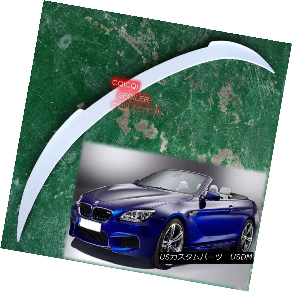 エアロパーツ Painted BMW 2012-2017 F12 6-series convertible V type trunk spoiler all color ◎ ペイントされたBMW 2012-2017 F12 6シリーズコンバーチブルVタイプのトランクスポイラーはすべての色ですか?