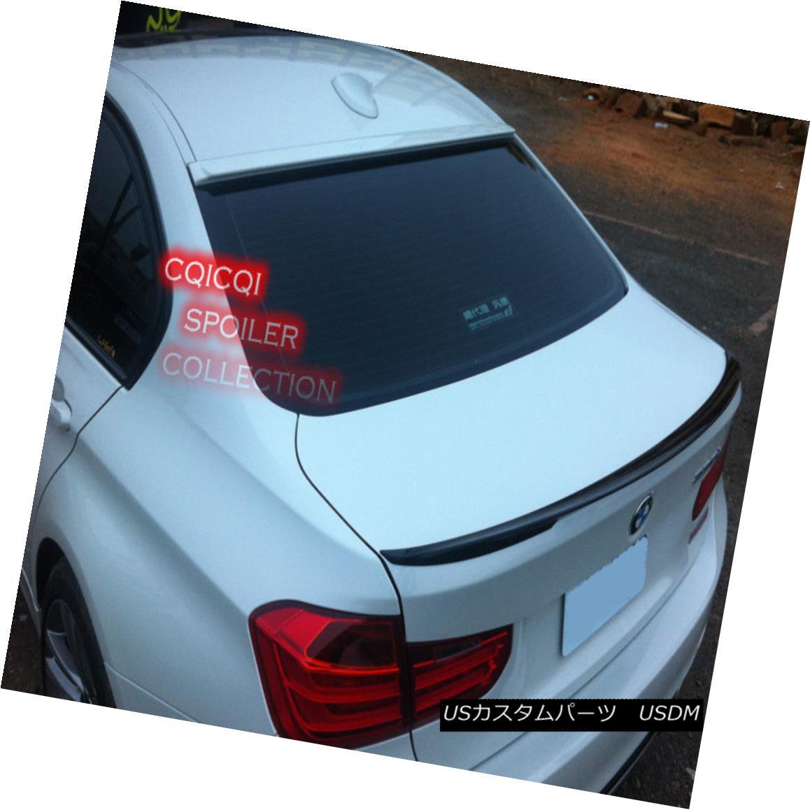 エアロパーツ Painted BMW 12~18 F30 3-series Sedan AC type rear roof spoiler color:475 black ◎ ペイントされたBMW 12?18 F30 3シリーズセダンACタイプリアルーフスポイラーカラー:475黒?