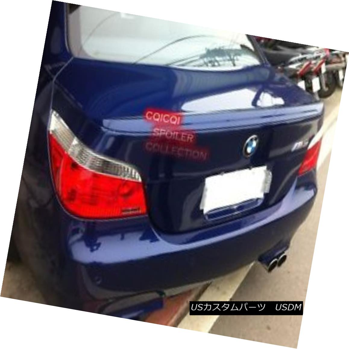 エアロパーツ Painted BMW 04-10 E60 5-series Sedan M5 type trunk spoiler all color◎ ペイントされたBMW 04-10 E60 5シリーズセダンM5タイプのトランク・スポイラーは全色?