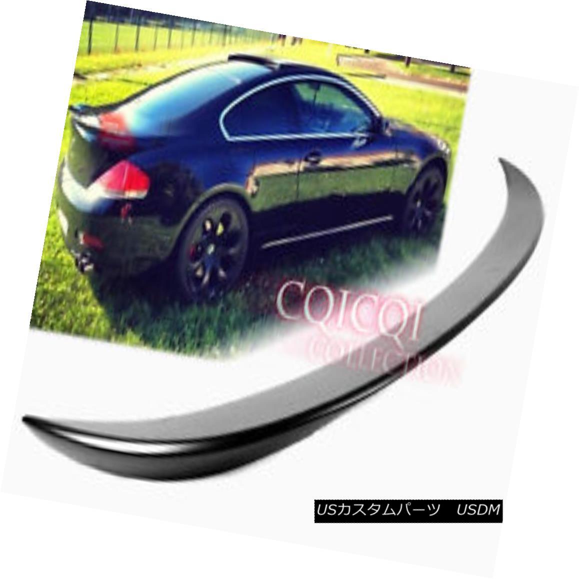 エアロパーツ Unpainted BMW 04~08 E63 6-series coupe V type trunk spoiler◎ 未塗装のBMW 04?08 E63 6シリーズクーペV型トランク・スポイラー?