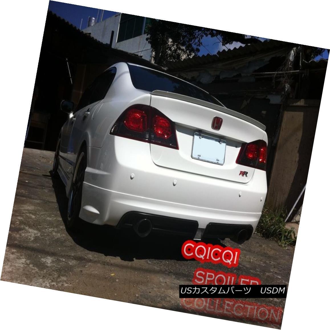 エアロパーツ Painted HONDA 06-11 CIVIC 4D Sedan trunk spoiler all color ◎ 塗装ホンダ06-11シビック4Dセダントランクスポイラーすべての色?