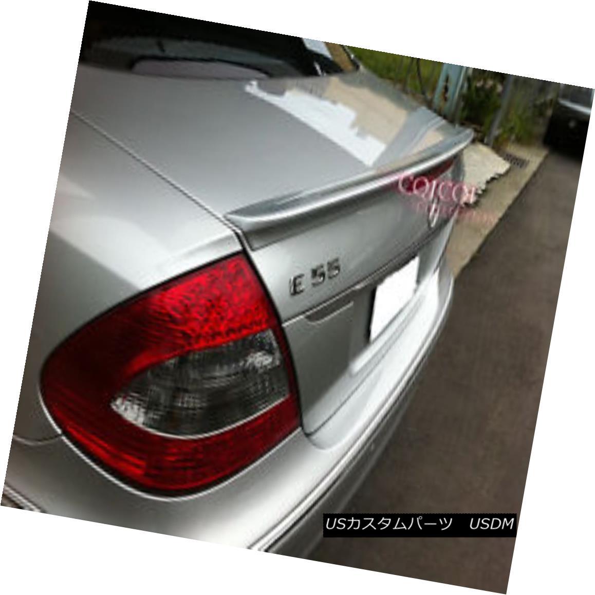 エアロパーツ Painted M-BENZ 03-08 W211 E-class Sedan AMG type trunk spoiler color:723 ◎ ペイントされたMベンツ03-08 W211 EクラスセダンAMGタイプのトランクスポイラーの色:723?