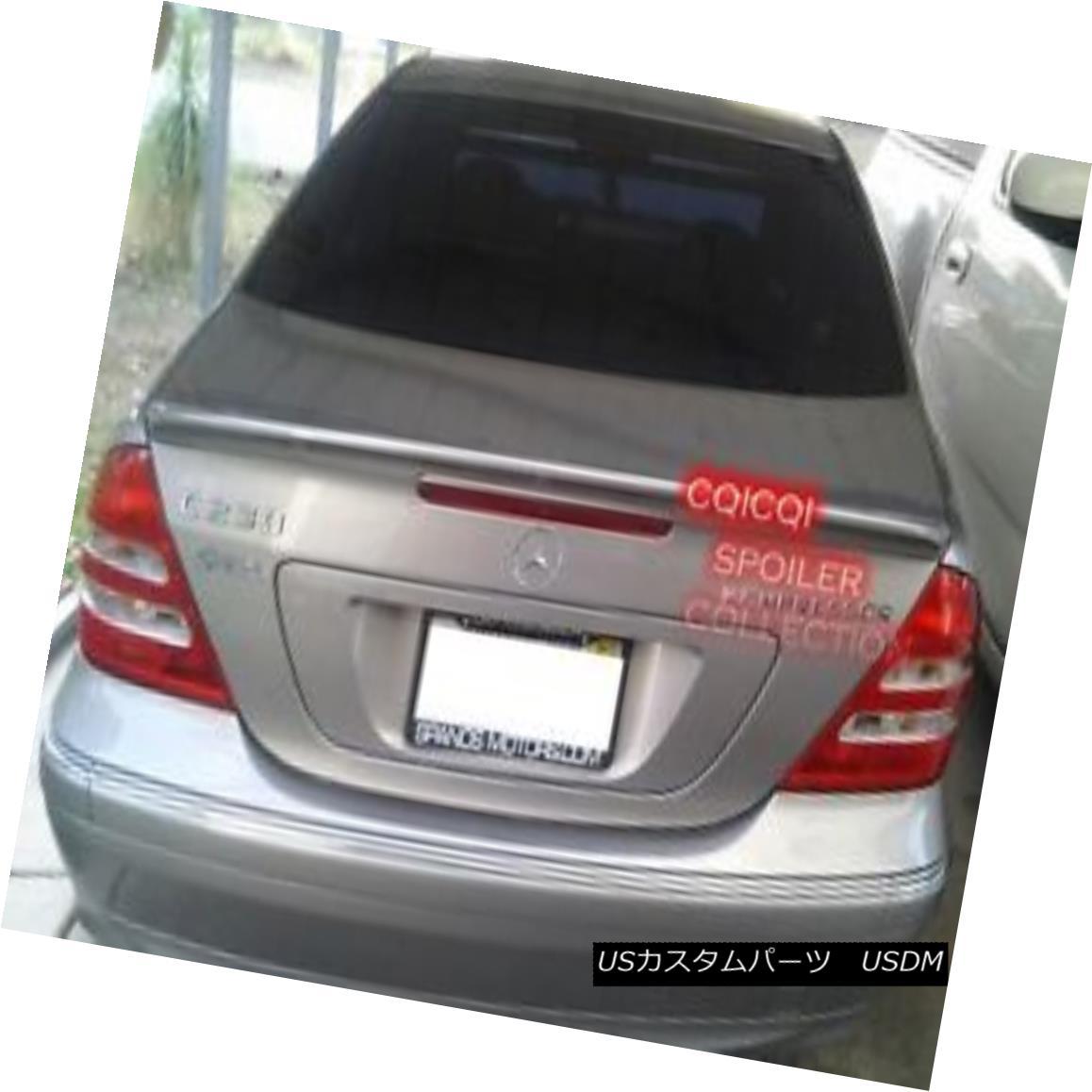 エアロパーツ Painted M-BENZ 01-07 W203 C class AMG style trunk spoiler color-197 Black ◎ ペイントされたM-BENZ 01-07 W203 CクラスAMGスタイルのトランク・スポイラーcolor-197 Black?
