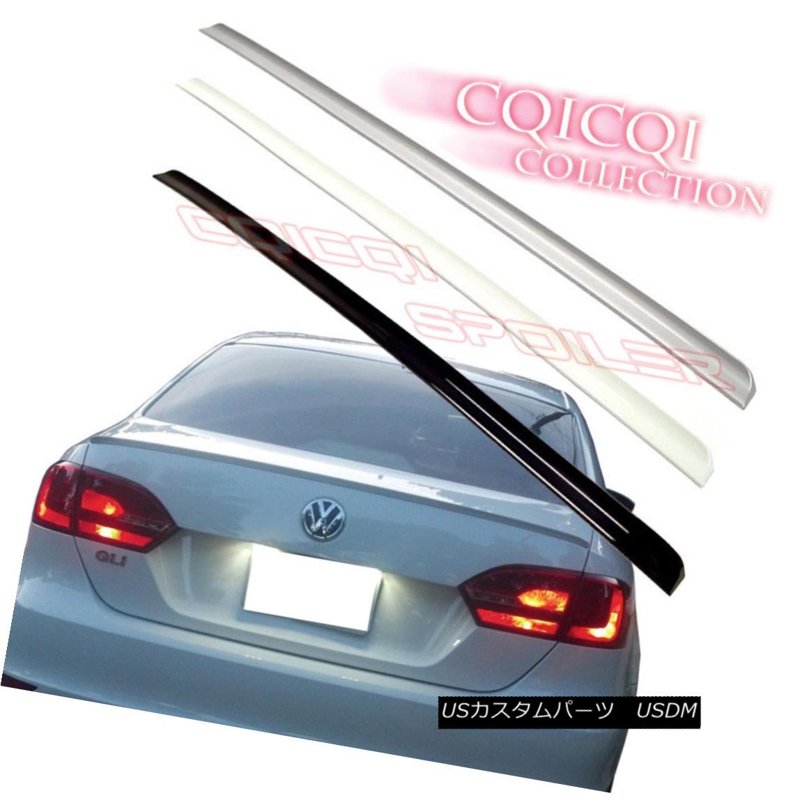 エアロパーツ Painted Trunk Lip Spoiler For 11-17 VW JETTA MK6 Sedan LB9A color:candy white ◎ 11-17 VWジェットMK6セダンLB9Aのための塗られたトランクリップ・スポイラー色:キャンディー白?