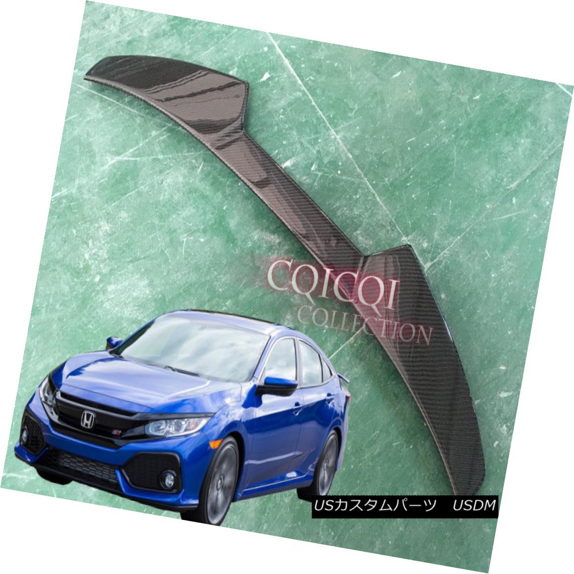 エアロパーツ Carbon Fiber HONDA 2017~2018 CIVIC sedan 4-door V type roof spoiler ◎ 炭素繊維HONDA 2017?2018 CIVICセダン4ドアVタイプルーフスポイラー?