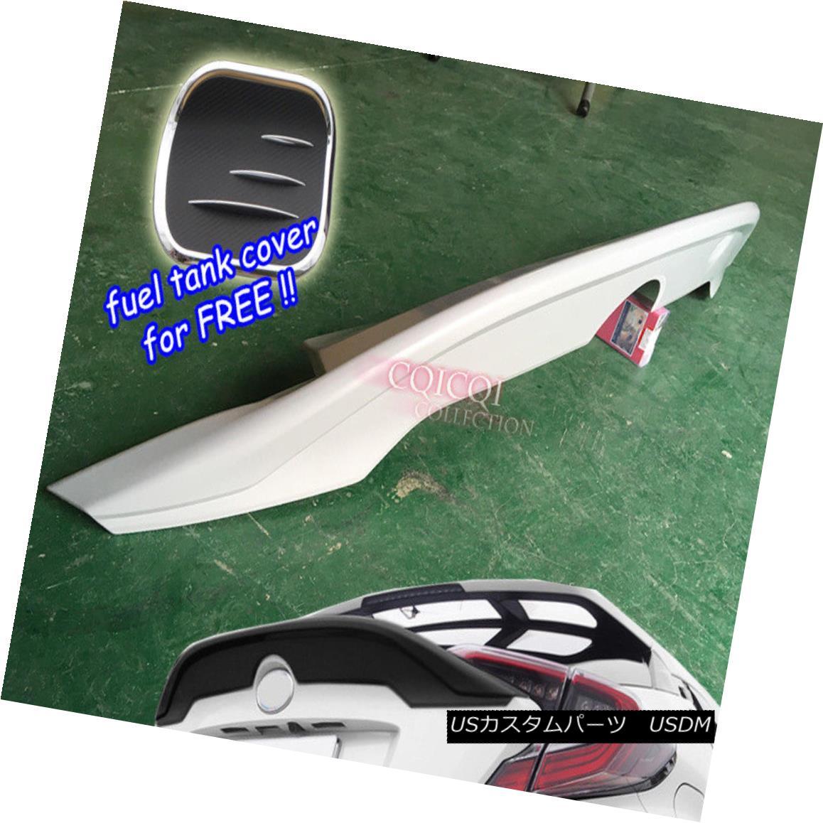 エアロパーツ Unpainted middle trunk spoiler +fuel tank cover for TOYOTA 17~18 CHR C-HR ◎ トヨタ17?18 CHR C-HR用未塗装ミドルトランク・スポイラー+燃料タンクカバー?