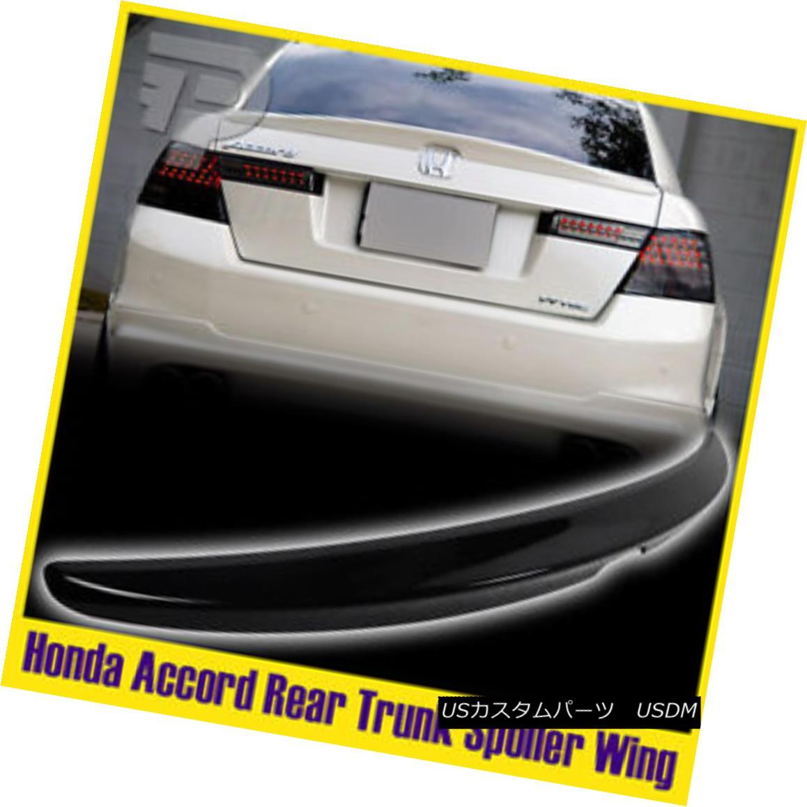エアロパーツ Painted #B92P Honda Accord Sedan EX LX Rear Trunk Spoiler Wing Black 08-12 塗装済み#B92PホンダアコードセダンEX LXリアトランクスポイラーウイングブラック08-12