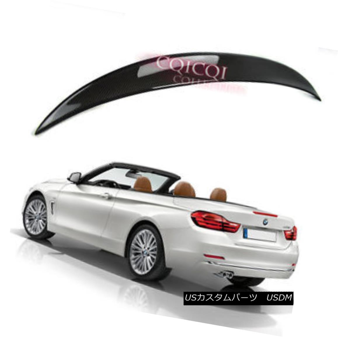 エアロパーツ Carbon BMW 14~17 F33 4-series convertible performance type trunk spoiler ◎ カーボンBMW 14?17 F33 4シリーズコンバーチブルパフォーマンスタイプのトランク・スポイラー?