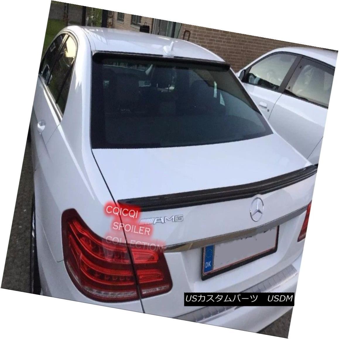 エアロパーツ Carbon BENZ 10~16 W212 E Sedan AMG type trunk spoiler + OEM type roof spoiler◎ カーボンベンツ10?16 W212 EセダンAMG型トランクスポイラー+ OEM型ルーフスポイラー?